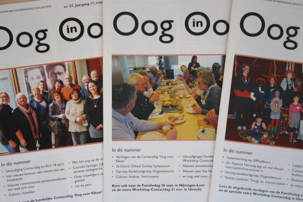 Publicatie Nieuwsmagazine Oog in Oog, nummer 72